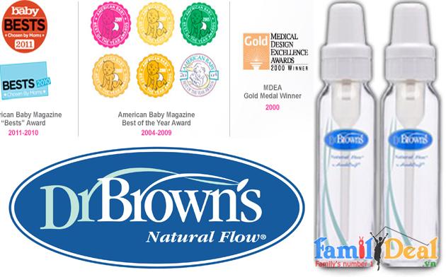 Bình sữa Dr Brown's thủy tinh 6oz (120ml)