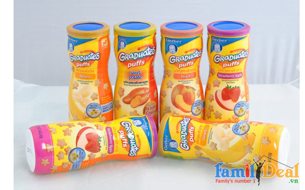 Bánh Ăn Dặm Puffs - Gerber (USA) NHOMMUA HOTDEAL