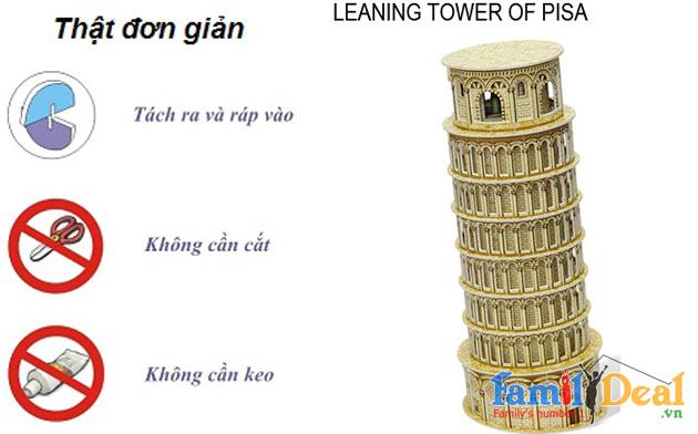 3D Puzzle Tháp nghiêng Pisa NHOMMUA HOTDEAL