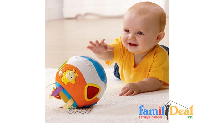 Banh tập bò  Vtech Move & Crawl Ball