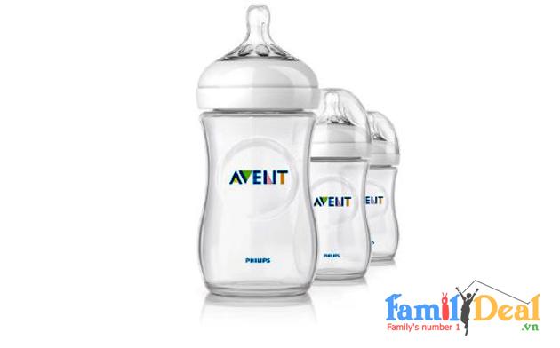 Set 03 Bình Sữa Cổ Rộng Avent Natural