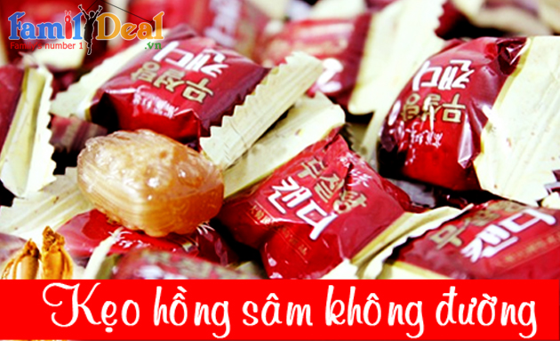Kẹo Hồng sâm không đường 500g