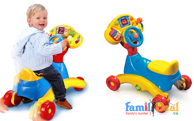 BẬP BÊNH VTECH 3 IN 1 SMART WHEELS NHOMMUA HOTDEAL