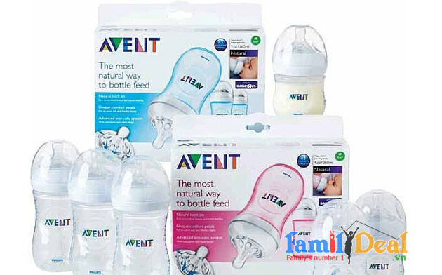 SET 3 BÌNH SỮA PHILIPS AVENT NATURAL 260ml