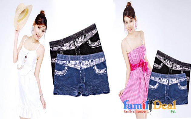 Quần Mặc Trong Váy Giả Jean
