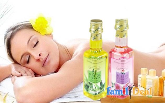Tinh dầu massage Oliu hoặc hoa hồng 150ml