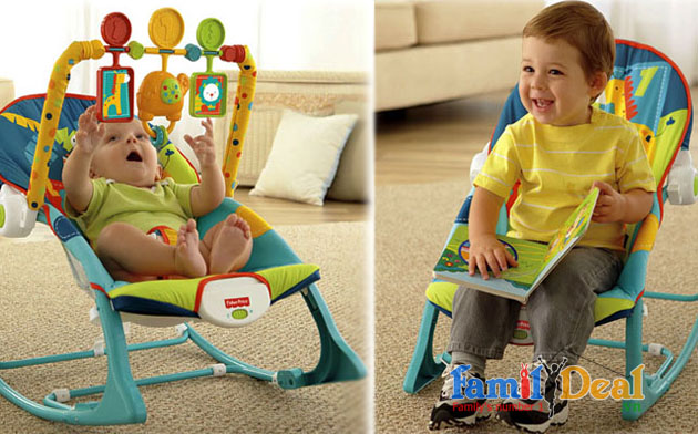 Ghế rung Fisher Price X7046 Safari Pattern