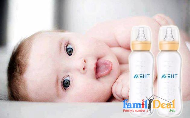 Bình sữa cổ thường Philips AVENT 300ml NHOMMUA HOTDEAL
