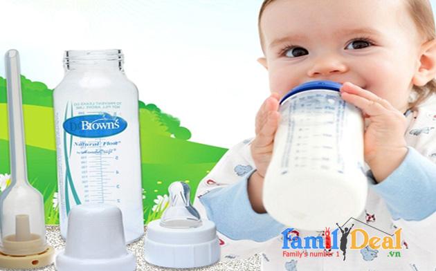 Bình sữa Dr Brown's nhựa 250ml