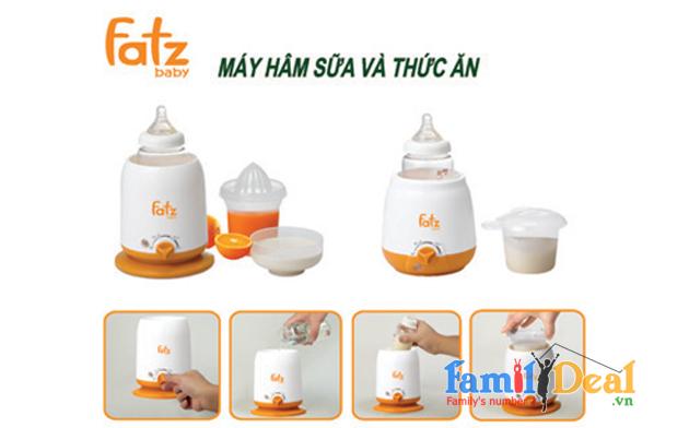 Máy hâm sữa siêu tốc 3 chức năng FATZBABY NHOMMUA HOTDEAL
