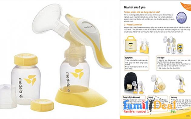 Máy hút sữa Medela bơm bằng tay Harmony