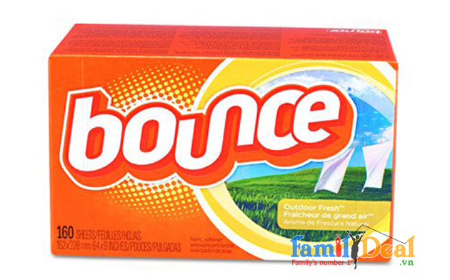 Hộp Giấy Thơm Bounce 4 In 1 Outdoor Fresh (250 tờ)