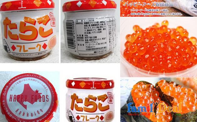 Trứng cá tuyết happy foods nhật