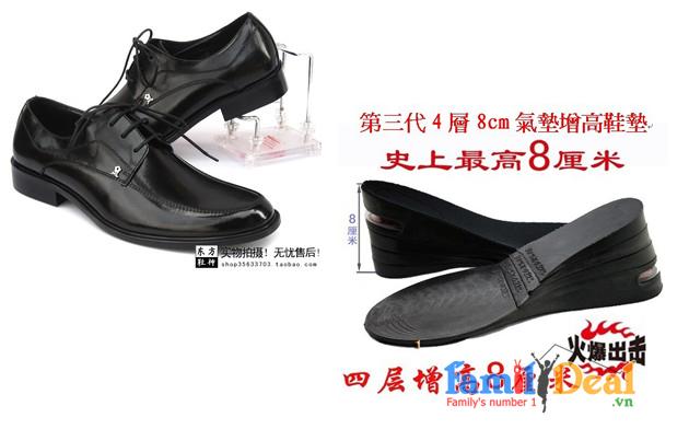 Miếng Lót Giày Tăng Chiều Cao 8cm  Đệm Khí