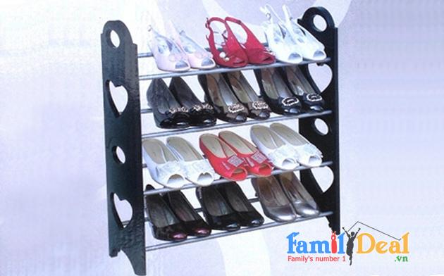 Kệ để giày dép stackable shoe rack