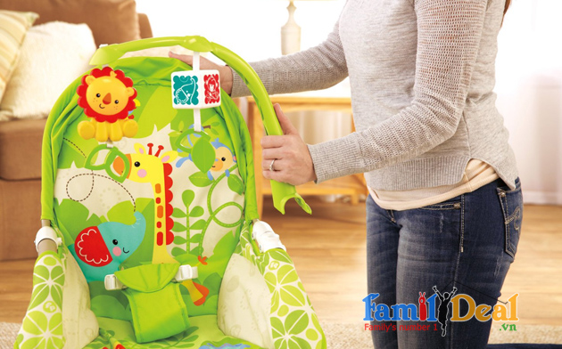Ghế rung Fisher Price X7047 Rainforest Friends (Baby trace)