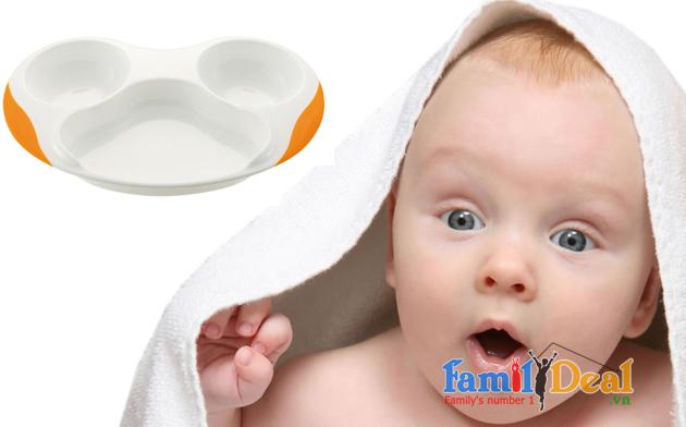 Khay ăn 3 ngăn cho bé