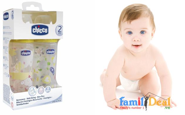 Bình Sữa Chicco 250ml - Italia NHOMMUA HOTDEAL