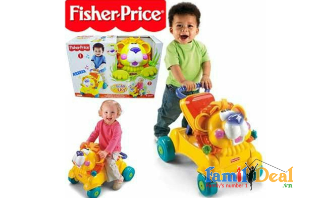 Xe tập đi sư tử Fisher Price 2 in 1