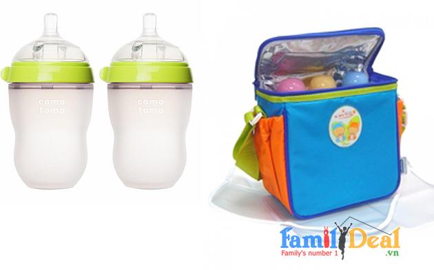 Túi giữ ấm sữa 3 bình Lucky Baby