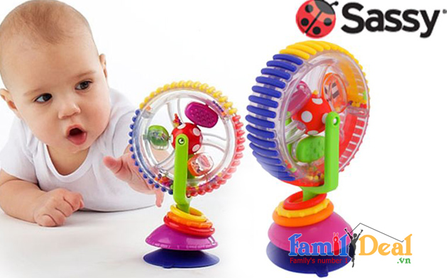 Lục lạc vòng quay bánh xe Sassy Wonder Wheel