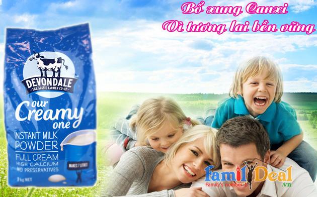 Sữa tươi dạng bột nguyên kem Devondale NHOMMUA HOTDEAL