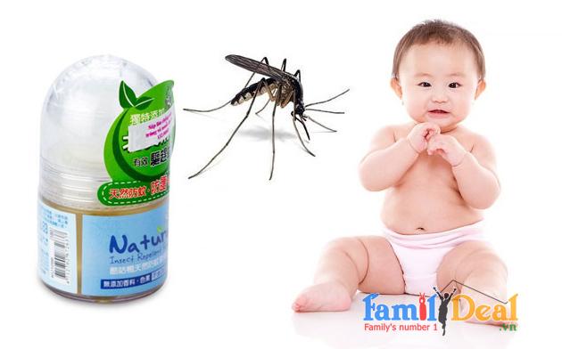 Sáp lăn chống côn trùng muỗi KU KU
