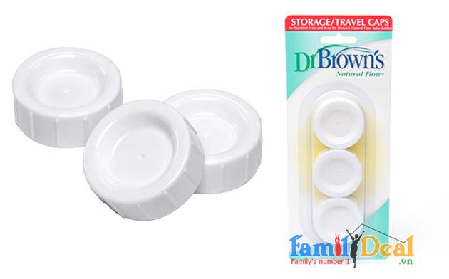 Bộ nắp đậy bình sữa Dr. Brown's cổ thường