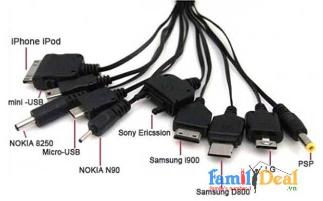 Thiết bị sạc đa năng đầu cắm USB 10 đầu sạc NHOMMUA HOTDEAL