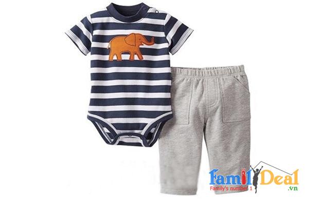 Bộ áo ngắn tay kèm quần dài cho bé NHOMMUA HOTDEAL