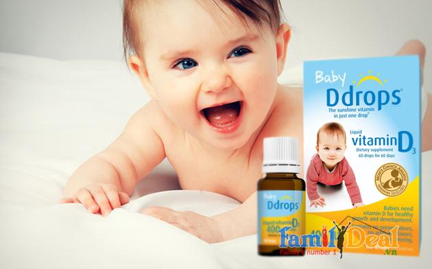 Vitamin D cho bé Baby Drops