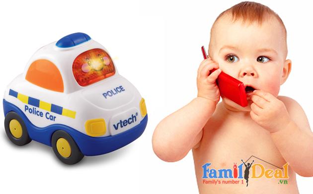 Xe cảnh sát phát nhạc Vtech