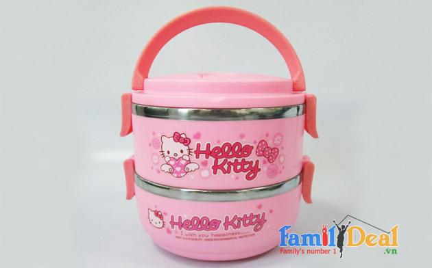 Camen Giữ Nhiệt 2 Ngăn Hello Kitty