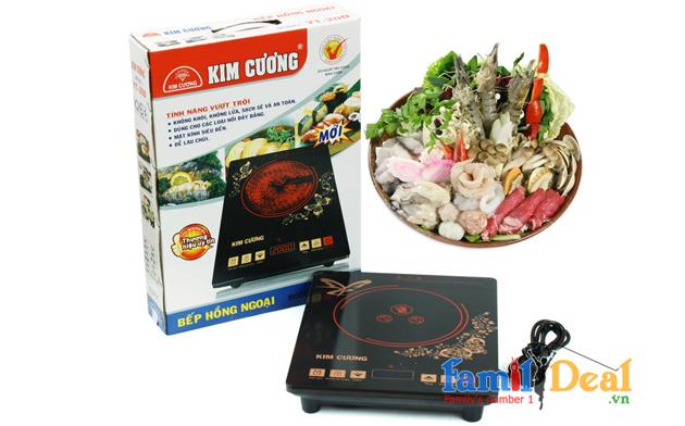 Bếp hồng ngoại cao cấp Kim Cương