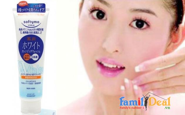 Sữa rửa mặt Softymo white Nhật Bản