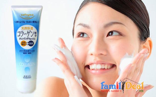 Sữa Rửa Mặt Kose Softymo Collagen