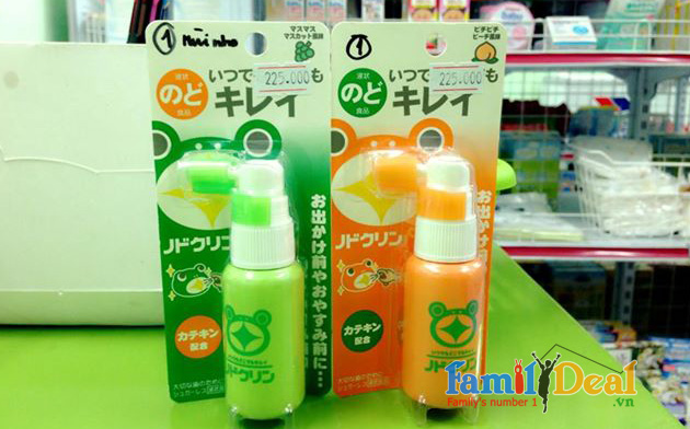 Thuốc xịt họng trị ho của Nhật Bản