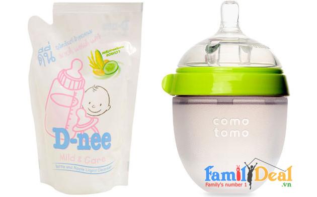Combo 2 Nước rửa bình sữa và rau quả Dnee 700ml NHOMMUA HOTDEAL