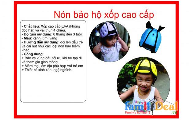 Mũ bảo hiểm cho trẻ em tập đi
