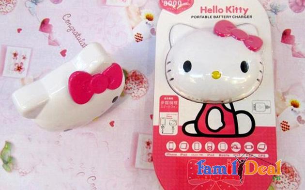 Pin dự phòng Hello Kitty 8.000 mAh NHOMMUA HOTDEAL