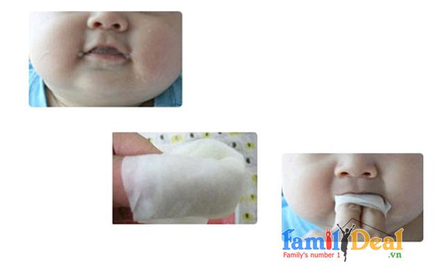 Khăn vệ sinh răng miệng cho bé Pigeon NHOMMUA HOTDEAL