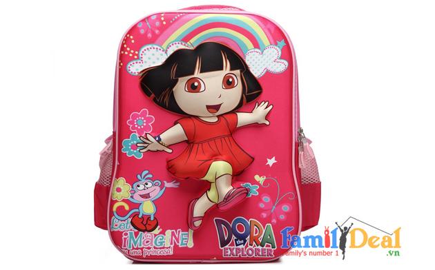 Ba lô học sinh hình 3D nổi Dora NHOMMUA HOTDEAL