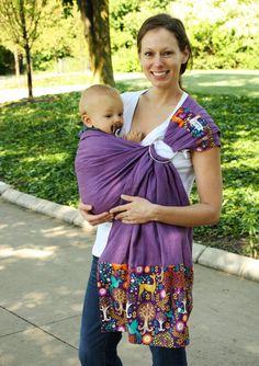 Địu võng em bé baby sling
