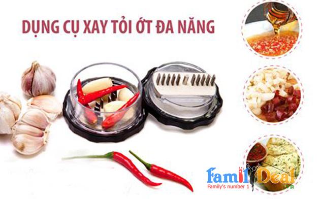 Bộ dụng cụ xay tỏi ớt và dụng cụ cắt trứng NHOMMUA HOTDEAL