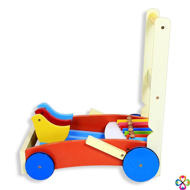 Xe tập đi bằng gỗ có đàn cho bé