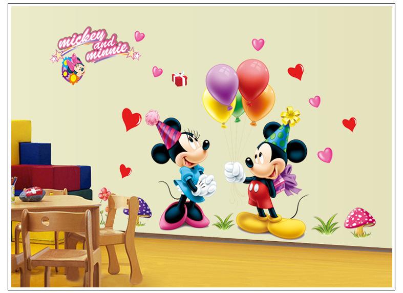 Decal Dán Tường Chuột Mickey