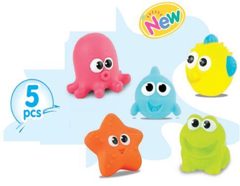 Set 5 món đồ chơi tắm phun nước Winfun