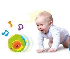 Banh tập bò Winfun 0778NL phát sáng, có nhạc cho bé