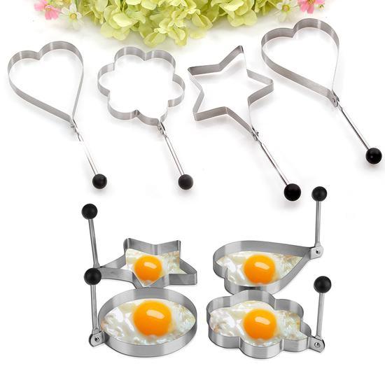Combo 03 bộ Khay chiên trứng trái tim và ngôi sao