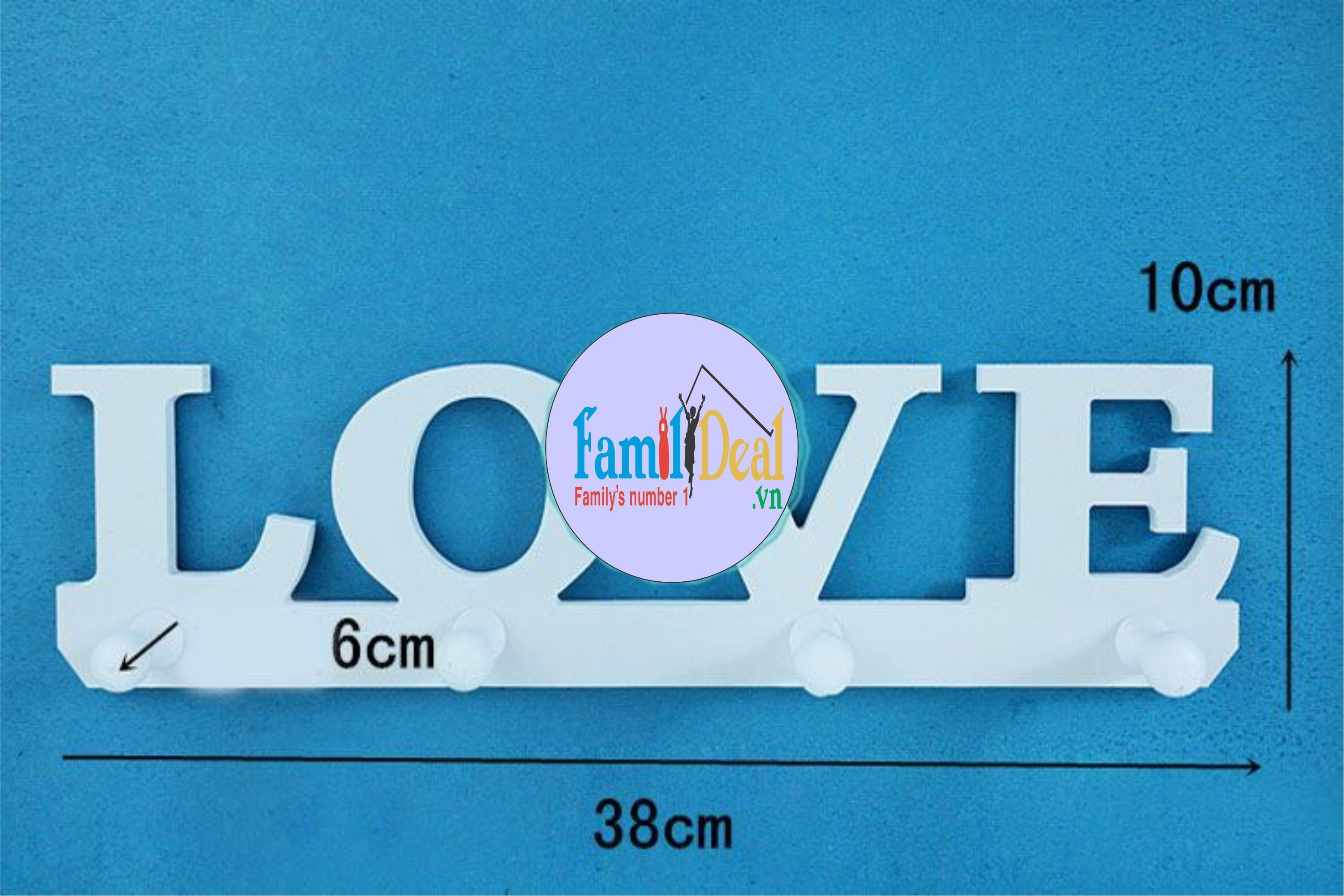Móc treo tường đa năng Love